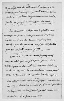 literature/montesquieu pensees manuscript page book iii