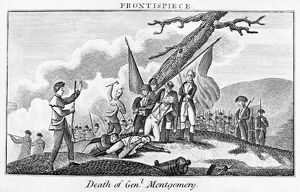 MONTGOMERY'S DEATH, 1775. The death of General Richard Montgomery during the