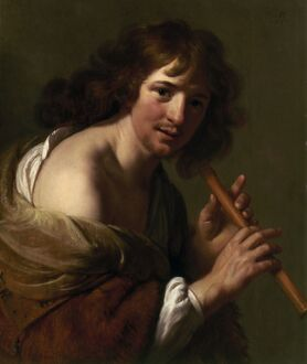 MOREELSE: FLUTE PLAYER. 'The Flute Player' by Paulus Moreelse. Oil painting, 1636.