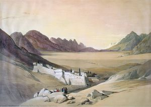 MOUNT SINAI: MONASTERY. Saint Catherine's Monastery at Mount Sinai, Egypt