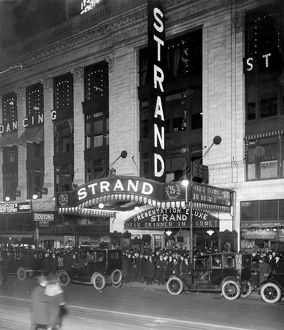 MOVIE THEATRE, 1920. The Strand, in Times Square, New York City, 1920.