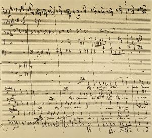 performing arts/mozart requiem excerpt autograph manuscript