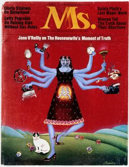 MS. MAGAZINE, 1972. Cover of the first issue of 'Ms.' magazine, spring 1972.