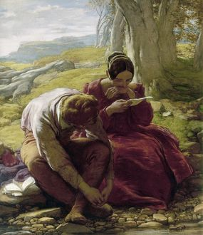 MULREADY: SONNET, 1839. The Sonnet. Oil on canvas by William Mulready, 1839.