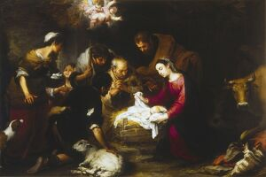 MURILLO: SHEPHERDS. 'The Adoration of the Shepherds