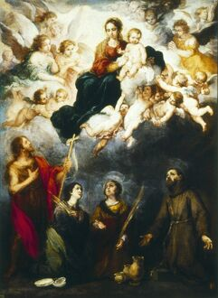 MURILLO: VIRGIN AND CHILD. 'The Virgin and Child with Saints