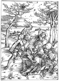 MYTHOLOGY: HERCULES. Woodcut, c1496, by Albrecht Durer