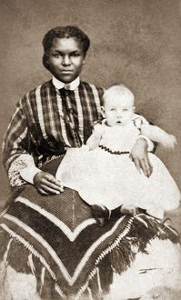 NANNY & CHILD, 1866. Photograph, 1866