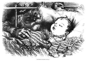 NAST: CHRISTMAS, 1880. 'Another Stocking to Fill.' Wood engraving by Thomas Nast