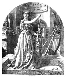 NAST: RECONSTRUCTION, 1868. Personification of the ideals of the Reconstruction