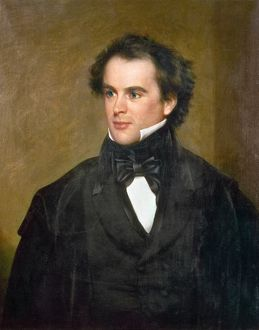 NATHANIEL HAWTHORNE (1804-1864). American writer. Oil painting by Charles Osgood, 1840.