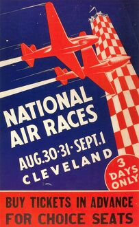 NATIONAL AIR RACE POSTER. A 1947 National Air Race poster, held in Cleveland, Ohio.