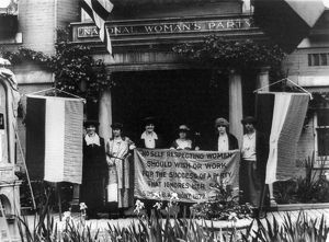 NATIONAL WOMEN'S PARTY. Alice Paul with officers of the National Women's Party