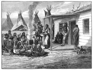 NATIVE AMERICAN FAMILY. A white man married to a Native American is visited by