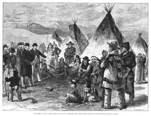 NATIVE AMERICANS, 1890. 'Excitement among North American Indians: Interview with