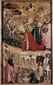 THE NATIVITY. And Adoration of the Magi. Master of the Gamier-Parry Nativity. Panel