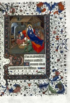 NATIVITY: WASHING THE CHILD Illumination from a French Book of Hours, c1415.