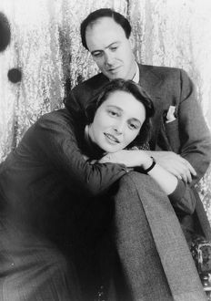 NEAL AND DAHL, 1954. British writer Roald Dahl with his wife, American actress Patricia Neal