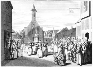 NETHERLANDS: PENTECOST. 'Custom observed at Schermerhorn on Whitsunday.' Engraving