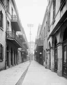 us cities/new orleans alley c1905 view exchange alley