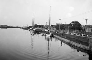 us cities/new orleans bayou c1905 sailboats bayou st
