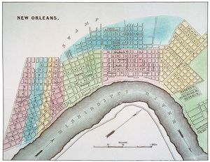 NEW ORLEANS MAP, 1837. /nMap of New Orleans, Louisiana.
