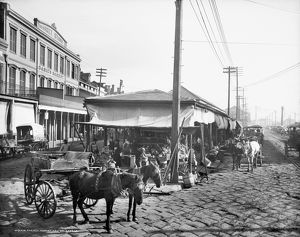 us cities/new orleans market c1906 scene french market