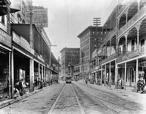 NEW ORLEANS: STREET SCENE. A view of St. Charles Avenue in New Orleans, Louisiana