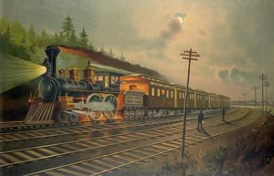 NEW YORK CENTRAL RAILROAD. The American Express company's express train on the