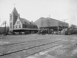 NEW YORK CENTRAL RAILROAD. New York Central Railroad Depot at Syracuse, New York