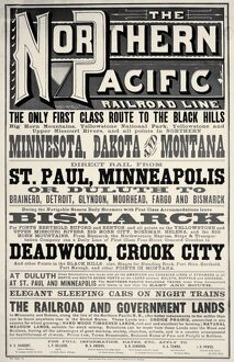 A Northern Pacific Railroad poster of 1879.
