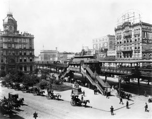 NYC: GREELEY SQUARE, 1898. Greeley Square at Broadway between 32nd and 33rd Streets