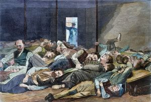 NYC: HOMELESS, 1874. Station-House Lodgers: some of New York City's homeless