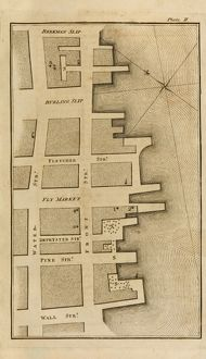 NYC: YELLOW FEVER, 1796. Valentine Seaman's map of the New York City waterfront