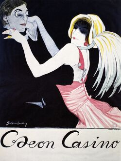 ODEON CASINO POSTER, 1920. German poster for Odeon Casino by Walter Schnackenberg, 1920.