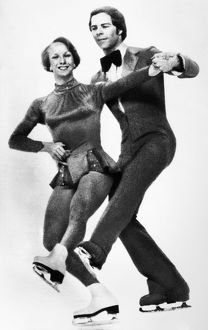 OLYMPIC GAMES, 1976. American ice dancing couple Colleen O'Connor and Jim Millns