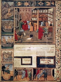 OPEN-AIR PHARMACY. An open-air pharmacy and various methods of medical care-giving: illuminated ms