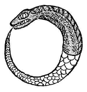OUROBOROS, 16th CENTURY. The dragon Ouroboros
