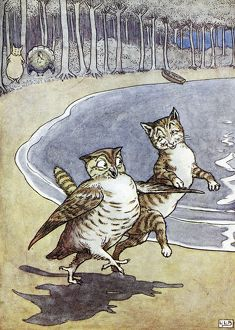 cats/owl pussycat illustration leslie brook 1862 1940