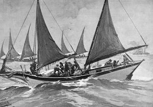 occupations/oyster pirates 1892 poaching oysters coast united