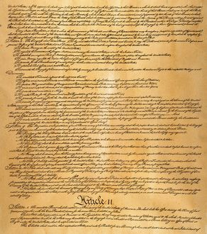 Page two of the Constitution of the United States of America, 1787.