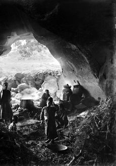 PALESTINE: CAVE DWELLING. The cave dwelling of gunpower makers in Bayt Jibrin, Palestine