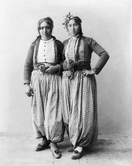 PALESTINE: GYPSIES, 1893. Two Gypsy women of Palestine. Photographed 1893
