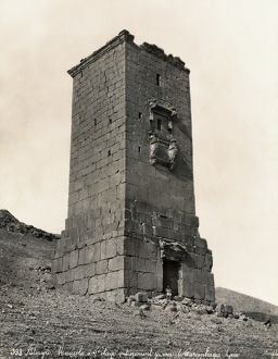 PALMYRA: MAUSOLEUM. Stone mausoleum at Palmyra, Syria. Photograph, late 19th century