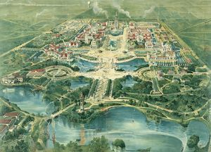 PAN-AMERICAN EXPOSITION. Birdseye view of the Pan-American Exposition in Buffalo, New York