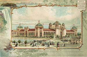 PAN-AMERICAN EXPOSITION. The Manufacturers Building at the Pan-American Exposition