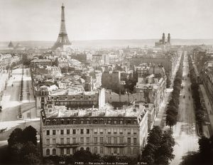 PARIS: AERIAL VIEW, 1900. View of Paris form l'Arc de Triomphe, c1900