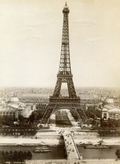 PARIS: EIFFEL TOWER, 1900. The Eiffel Tower, photographed at the time of the International