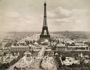 PARIS: EIFFEL TOWER, 1900. The Eiffel Tower, photographed at the time of the Universal