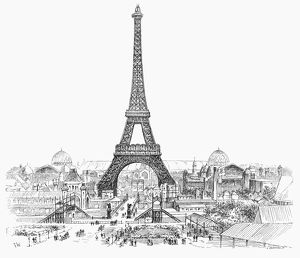 PARIS EXHIBITION, 1889. /nGeneral view of the Paris Exhibition, from the Trocadero